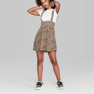 Wild Fable Animal Print Suspender Mini Dress L